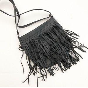 Handbags - Fringe Crossbody Bag purse black small